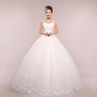 2014 spring and summer fashion slit neckline bridal yarn wedding dresses