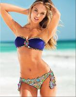 New Women Ladies Girl Sexy Rhinestone Bikini Set Crystal Jeweled PAD Push Up Swimwear Swimsuit Bikini Bathing Suit Monokini SML