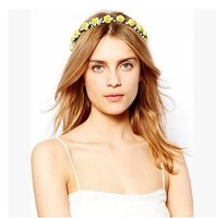 Fashion rose headband two-color hairpin street star sweet flower hair accessory
