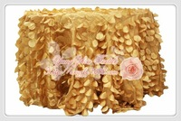 free shipping new desgin gold taffeta coin round table cloth for weddings decoration