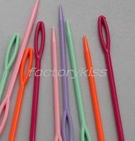 Free Shipping 10x Muliti-Color Plastic Hand Sewing Needle Yarn Darning Tapestry Knit Tool 4004-808