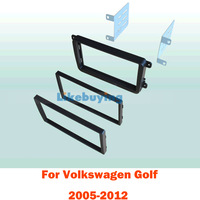 2 Din Car Fascia Panel / Car Frame kit / Audio Panel Frame / Car Dash Kit For Volkswagen Golf 2005-2012 Retail/Pcs Free Shipping