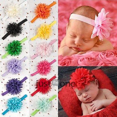 Sweet Infants Toddlers Baby Girls Chiffon Flower Headband Hairband Hair Decors(China (Mainland))