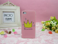 Free shipping+For iphone5 5s & 4 Crown princess phone cases for iphone 5 5s & 4 4s