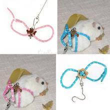 New Lead Ferret Hamster Nylon Rope Women Adjustable Rat Mouse Harness Fashion PTCT(China (Mainland))