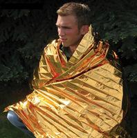Via Fedex/TNT, Large Size 160X210cm Outdoor Emergency Blanket Survival Foil Thermal Blanket Gold/Silver Rescue Mat, 200pcs