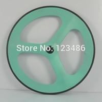 free shipping!  tri spokes 70mm carbon clincher road bike wheelset &clincher carbon front wheel 3spoke whees