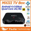 Original MXIII Android 4 4 Amlogic S802 Quad Core 2 0GHz 2GB 8GB DLNA 2 4