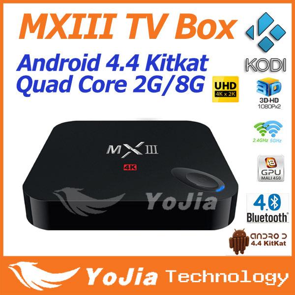 Original MXIII Android 4 4 Amlogic S802 Quad Core 2 0GHz 2GB