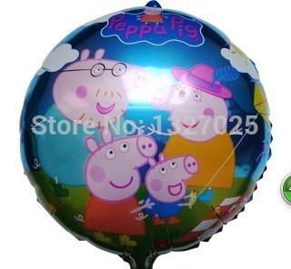 Peppa Pig família Foil Birthday Party Balloon decoração Peppa Pig balão crianças bebê dos desenhos animados balões Peppa Pig festa de aniversário(China (Mainland))