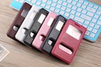 Huawei Honor 3 Case, High Quality Double Window View Filp Leather Cover Case For Huawei Honor 3  Leather Phone Flip Case Cover