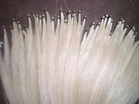 70 Hanks Mongolia White horse hair, Violin bow hair 32 inches 6 grams/hank