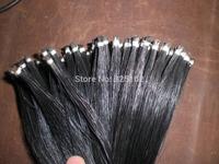 5 hanks Black Mongolia Bow hair in 32 inches, 7 grams each hank
