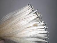 50 Hanks White Stallion Mongolia Horse hair 32 inches, 6 gram each hank