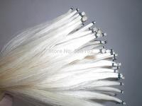 25 Hanks White Stallion Mongolia Horse hair 32 inches, 6 gram each hank