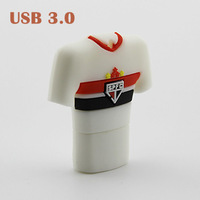 Wholesale Brazil Football Team T Shirt USB 3.0 Pen Drive Memory stick Memory Flash USB Flash Drive 8GB 16GB 32GB Free Shipping
