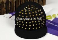 2014 New Arrive Fashion punk rivets hip hop flat along baseball caps peaked hats Snapback caps for man and woman free shipping