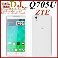 Original ZTE Q705U 5.7 Inch WCDMA MTK6582m 1.3G1GB RAM 4GB ROM Quad Core Android 4.2 Dual SIM IPS 1280*720 GPS 5MP Moblie Phone