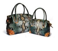 REAL LEATHER 2014 New Serpentine Pattern Genuine Leather Women Handbags Brand Ladies Cowhide Bride Bags Women's Bags