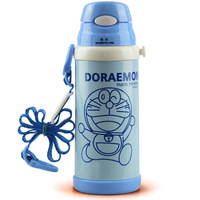 2014 Hot sale Children's Cartoon Vacuum Flasks Stainless Steel Vacuum Canteen Thermos Bottle Outdoor Travel Bottles Blue 350ml