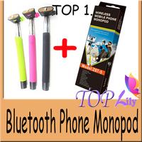 Extendable Handheld Self-Timer Foldable Bluetooth Wireless Monopod For Xiaomi Huawei IOS7 Smartphone Tripod Mini Holder Z07-5