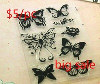 9.5*14.5CM Transparent Silicone Stamp,Seal for DIY scrapbook,photo album Decorative Clear Stamp More Design For Choice
