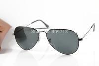 New Designer Metal Sunglass Men's/Women's Fashion 3025-002/62 Metal Black Sunglass Black Lens 58mm Case