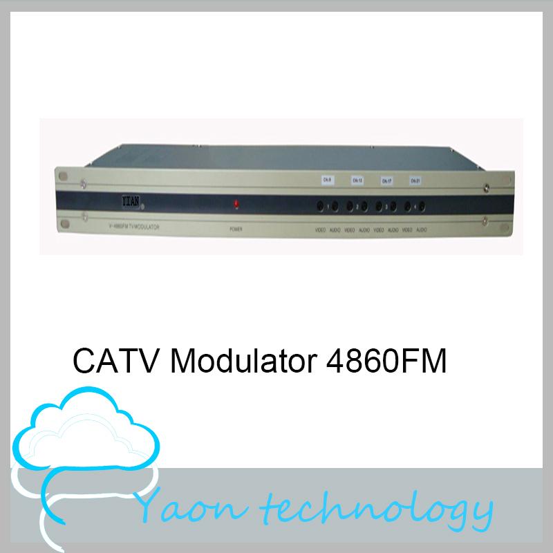 4 Way CATV Modulator 4860FM For Set-top Box/ TV/ DVD, 47-860MHz, PAL/ NTSC/ SECAM AV to RF converter(China (Mainland))