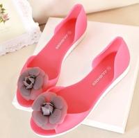 sandalia rasteira 2014 New Arrival Women Summer fragrant flowers camellia flat sandals Slipper  jelly shoes boots women sandals