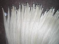 60 Hanks Violin bow hair(30 black & 30 white bow hair), 32 inches 6 grams each hank