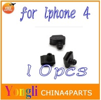 10 Pcs New Original OEM Replacement Inner Mic Microphone Rubber Boot Cover Cap for iPhone 4 4S Free Shipping