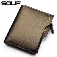 brand 2014 genuine leather men wallet, short design first layer cowhide purse wallets