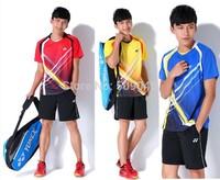 Fast Delivery 1 set 2014 new style yonex  badminton jersey man t-shirts shorts shirts pants badminton shirts 008