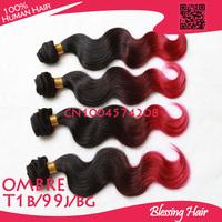 Brazilian Body Wave Ombre Hair Weave,Brazilian Wavy Hair,100% Human Hair Extension,mac makeup Blessing hair free shipping