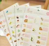 2014 New Free ship 1lot=20pcs/korean stationery kawaii lovely cartoon animal stickers DIY stickers toy sticker school supplies