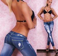 2014 top fasion print new women sexy tattoo jean look legging sport leggins punk fitness american apparel jeans woman pants 9047