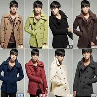 Korean Style New Autumn & winter wholesale trade long double-breasted wool coat men windbreaker man down coats M-XXL