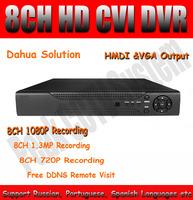 Dahua Solution 8CH HDCVI DVR HD-CVI CVR with HDMI Output & VGA 8CH 1080P 720P Recorder with Remote View for HD CVI Camera