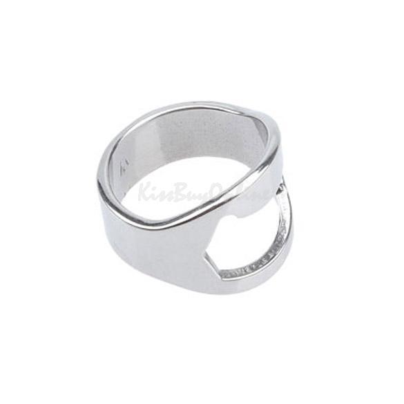 silver stainless steel finger ring bottle opener beer ptct. Black Bedroom Furniture Sets. Home Design Ideas