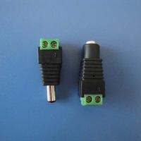 10sets(20pcs)/lot  2.1x5.5mm DC Power Female Plug Jack + Male Plug Jack Connector