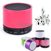 2014 Mini Bluetooth Wireless Mini Portable Speaker For IPhone For IPad MP3 With Stereo Mic Free shipping #12 SV005311