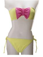 2014 New  women snood Bow Bikini Set Women Fashion Sexy High Waist Swimsuit  fashion Beachwear swimwear free shipping