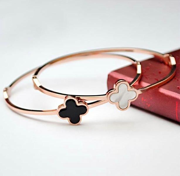 Promotion Price Fashion Simple Rose Gold Bracelets Bangles 26% Rhinestone Shell Women Bangle Bracelets Jewelry Free Shipping(China (Mainland))