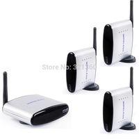 PAT-330 2.4GHz 150M Wireless AV Sender TV Audio Video Transmitter + 3 Receivers