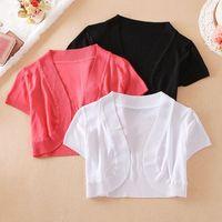 Summer women Clothing New Style Ice Wire Arc Small Waistcoat Sunscreen Cardigan Ladies Fashion Casual Slim Wear Y18