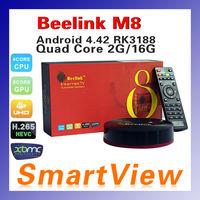 Original Beelink M8B S82B Amlogic S802 Quad Core 2GHz Android TV Box XBMC 2G/16GGPU 4K Bluetooth 2.4G/5G Dual WiFi free shipping
