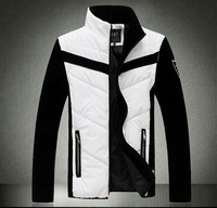 Men's Quality Cotton Padded Jacket L-3XL-4XL-5XL Big Plus Size Coat 2014 Fashion Winter Autumn Wadded Jackets Sleeves Detachable