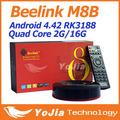 Original Beelink M8B S82B Amlogic S802 Quad Core 2GHz Android TV Box 2G 16G Mali450 GPU