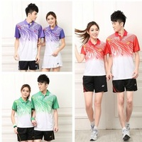 Fast Delivery 1 set 2014 new style yonex  badminton jersey man t-shirts shorts shirts pants badminton shirts table tennis shirts