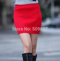 2014 new style Yarn skirt bust basic knit short mini style slim hip autumn and winter free size skirts
